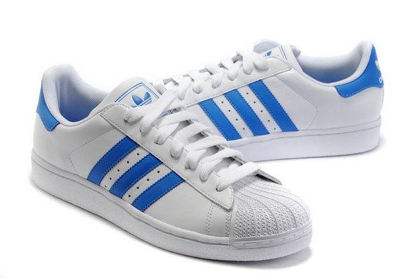 Adidas Superstar Mens & Womens (unisex) White Blue China
